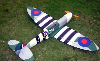"Highest Quality NitroModel! SpitFire 40 - 41"" Nitro Gas Gas/Electric Radio Remote Control RC Plane Almost-Ready-to-Fly"
