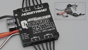 HobbyWing SKYWALKER QUATTRO 25Ax4 ESC Specially designed for Quatropter