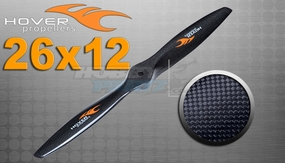 "Hover brand Carbon Fiber Propellers 26""X 12"