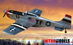 "Kimberly Kaye P-51D Mustang 40 - 58"" Almost-Ready-To-Fly Nitro Gas Radio Remote Control R/C Airplane w/ Retracts"