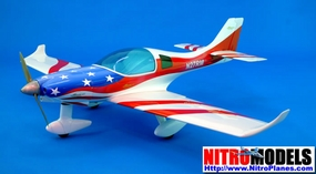 "Lancair 360/MK2 - 50 - 59"" Miss America Stars & Striples ARF Nitro Gas Radio Remote Controlled RC Aircraft CMP-053-Gas-LancairUSA"