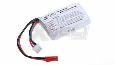 Li-poly battery 7.4V 800mAh