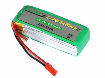 Li-Polymer battery  11.1v, 800mAh EK1-0188