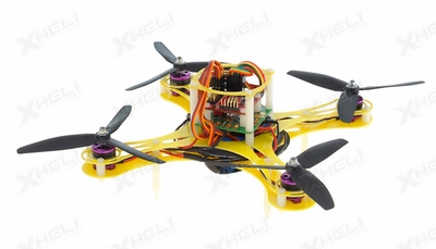 Mini Fly QuadCopter ARF w/ MWC Board Brushless Motor, 12A ESC (Yellow)