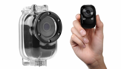 Mini Sport Car Spy Camera w/ Motion Sensor and WiFi HD & Waterproof Case (Black)
