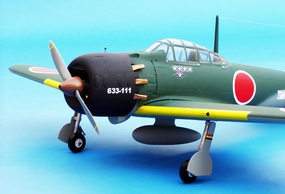 "Mitsubishi A6M5 50 - 54"" Nitro Gas Radio Remote Controlled RC Japan Warbird Plane ARF CMP-042-Gas-ZeroFighter50"