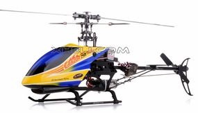 New!! 2.4Ghz Dynam E-Razor 250 Pro Ready-to-Fly w/ CNC Upgraded Rotor Head, Brushless Motor+ESC, LiPo Battery (Blue)