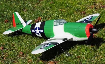 New 2008 4 CH P-47 Thunderbolt Radio Remote Control Electric RC Warbird Airplane RTF (Green)