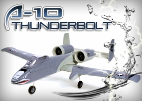 New 4 CH A-10 Thunderbolt II Brushless + ESC+ Lipo Battery Radio Remote Control Electric Ducted Fan RC Fighter Jet RTF (Blue)