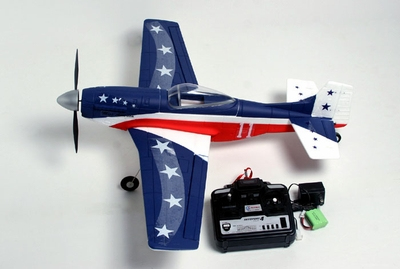 New 4 CH P51D MUSTANG Radio Remote Control Electric RC Warbird Airplane RTF (Blue)