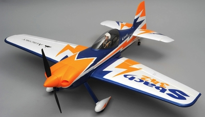 "AeroSky RC 4 Channel Sbach 342 Aerobatic RC Plane 55"" Kit (Blue) RC Remote Control Radio"