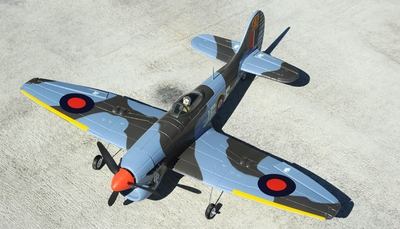 New 4 Channel  AirField Mini Hawker Tempest 800 Series RTF Electric Warbird w/ 2.4ghz Radio System RC Remote Control Radio