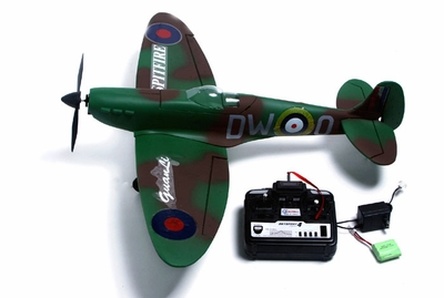 New 4-Channel RTF Spitfire MK2 RTF Radio Remote Controlled RC Warbird Airplane (Green)