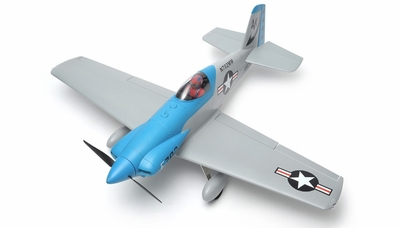 "AeroSky 5 Channel Midget Mustang 55"" Scale Remote Control Plane ARF (Blue)"