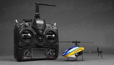 New 6 channel 2.4 GHz Exceed RC XH100 Micro 3D RC Helicopter RTF w/ 6CH 2.4Ghz DEVO-7 Transmitter + Gyro + Servos (Blue)