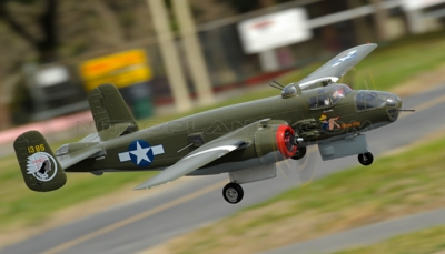 "NEW 7 Channel AirWingRC B25 Bomber 63"" Scale Electric RC Warbird ARF w/ Motor + ESC + Servos (Green)"