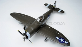 New Airfield  P-47 1400mm Brushless Warbird RC Plane w/Electric Retracts + Flap Kit (Green) RC Remote Control Radio