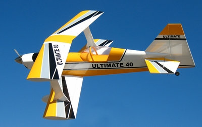 "New ARF! Yellow Ultimate BiPe 40 - 41.5"" Nitro Gas Radio Control RC Airplane"