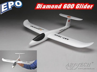 New ArtTech 600mm Diamond 600 Glider EPO Hand Launch