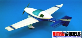 "New CMP Lancair 360/MK2 - 50 - 59"" Blue/White ARF Nitro Gas Radio Remote Controlled RC Aircraft CMP-Gas-LancairWhite"