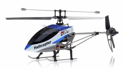 New Double Horse 9116 RC Helicopter 4 Channel 2.4Ghz RTF with Gyro + Flashing Head and Tail LED Lights + LED Transmitter RC Remote Control Radio