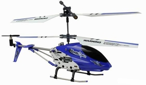 New Dynam Vortex M100 Infrared RC Micro Helicopter 3.5 Channel RTF + Transmitter with Gyro (Blue)