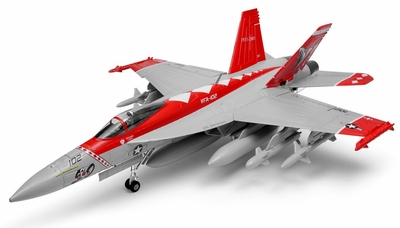 New Exceed RC 9 CH 90MM F-18 Red Viper Extreme Scale Jet Kit + 3D Thrust Vector RC Remote Control Radio