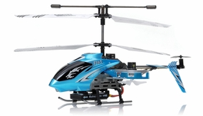 New F163 Fire Wolf 4.5CH RC Dual side-fly Helicopter RTF w/ 27MHz Transmitter + Built in Gyro (Blue)