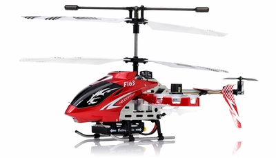 New  F163 Fire Wolf 4.5CH RC Dual side-fly Helicopter RTF w/ 27MHz Transmitter + Built in Gyro (Red)