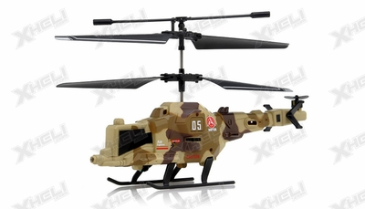 New Fire Wolf Infrared RC Mini Helicopter 3 Channel RTF with LED Transmitter (Camo)