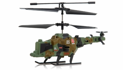 New Fire Wolf Infrared RC Mini Helicopter 3 Channel RTF with LED Transmitter (Green)