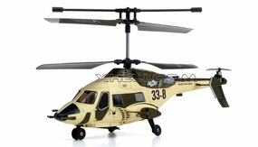 New Gyro 3ch Rc Mini Helicopter Skywolf 338 (Desert) RC Remote Control Radio