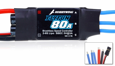 New HobbyWing Flyfun ESC 80A  for Airplane & Helicopter