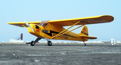 "New J3 Piper Cub .60 - 71"" Nitro Gas Radio Controlled Airplane ARF Kit"