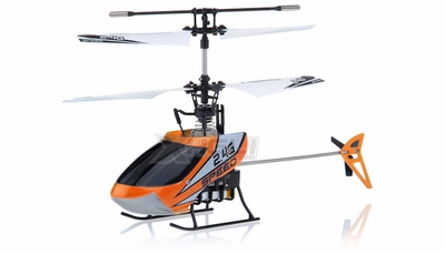 New Mingji F-Series 501 RC Helicopter 4 Channel 2.4Ghz RTF + Transmitter (Orange)