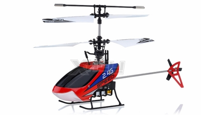 New Mingji F-Series 501 RC Helicopter 4 Channel 2.4Ghz RTF + Transmitter (Red)