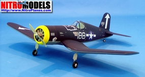 "New NitroModels CMP F4U Corsair 50 - 58"" Nitro Gas Radio Remote Controlled Almost-Ready to Fly RC Airplane Warbird Plane CMP-055-Gas-F4UCorsair50"
