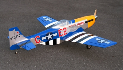 "New P-51D Mustang 60 - 66"" Nitro Fuel Powered Radio Remote Controlled RC Warbird Airplane ARF"