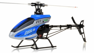 New RC Esky D550 3G 6-Channel Collective Pitch Flybarless Receiver-Ready Helicopter