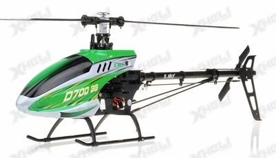 New RC Esky D700 3G 6-Channel Collective Pitch Flybarless Receiver-Ready Helicopter