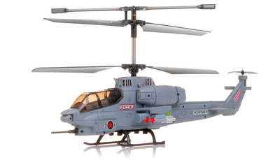 New SYMA S036G Gunship 3 Channel RC Helicopter (Grey) RC Remote Control Radio