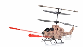 New UDI U809 Cobra Missile Launching 3CH Micro RC Helicopter w/ Gyro RTF (Camouflage Desert)