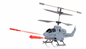 New UDI U809 Cobra Missile Launching 3CH Micro RC Helicopter w/ Gyro RTF (Gray) RC Remote Control Radio