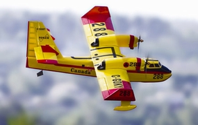 """New Version 2! Cananair CL-415 Twin 0.52 Engine - 80.7"""" Nitro-Powered Radio Controlled Seaplane w/ Landing Gear"""