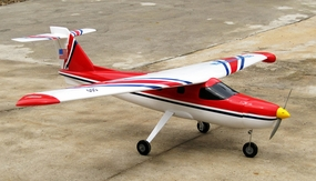 "New Version 2 Extra 500 .60 Engine 60"" Nitro Powered Radio Controlled Airplane Kit (Red)"