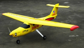 "New Version 2 Extra 500 .60 Engine 60"" Nitro Powered Radio Controlled Airplane Kit (Yellow)"