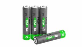 NiMH Rechargerable AAA Battery 800 mAh 4 Pieces