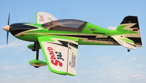 Nitro Model SBach 342 4 Channel Aerobatic 3D 30CC Gas Plane Kit 1860mm Wingspan (Green) RC Remote Control Radio