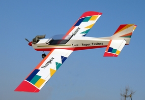 "NitroModel Low-Wing Super Aerobatic Trainer 40 - 65"" Nitro Gas Radio Remote Controlled Airplane"