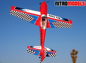 "NitroModels 3D Extra 330L 90 - 63"" Acrobatic Nitro Gas Radio Remote Controlled RC Airplane ARF"